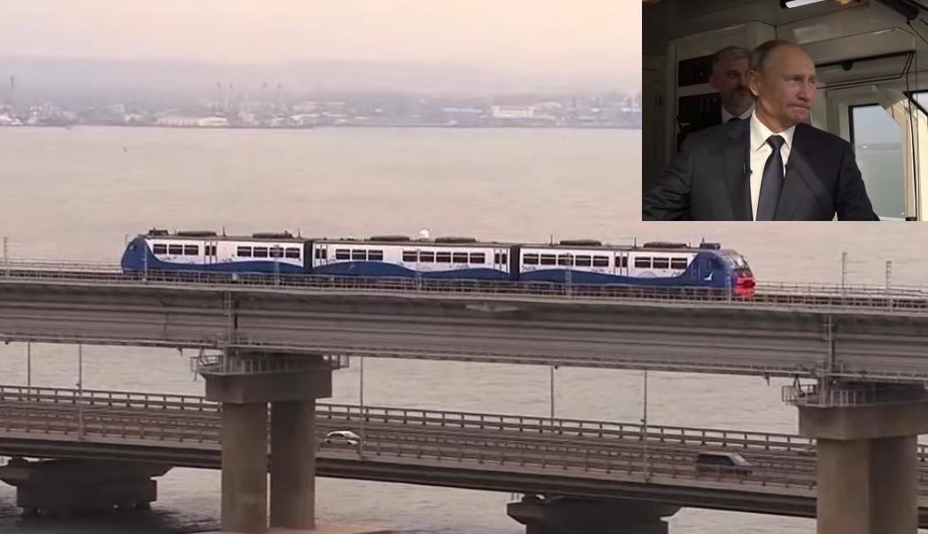 Путин се качи на първия влак по Кримския мост