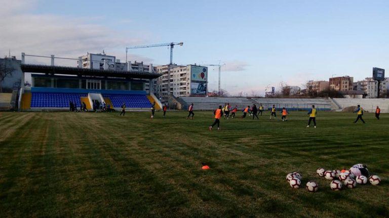 ФК Спартак стартира зимната си подготовка на стадион Спартак