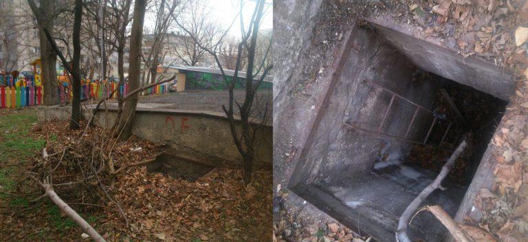 Опасна шахта зее на метри от детска площадка в Левски