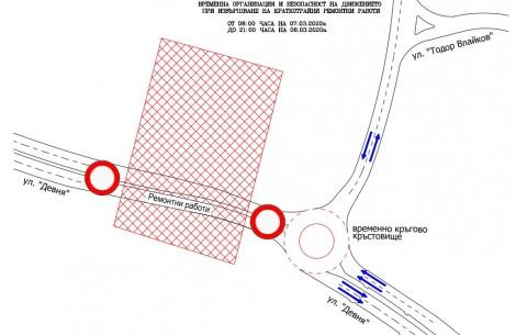 За два дни затварят част от ул. Девня в двете посоки