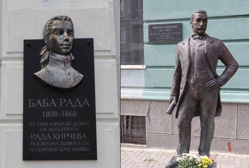 В деня на Освобождението на Варна откриха паметници на Михаил Колони и Баба Рада