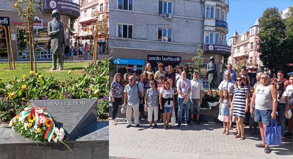 Земляци на Иван Церов поднесоха цветя на паметника му във Варна