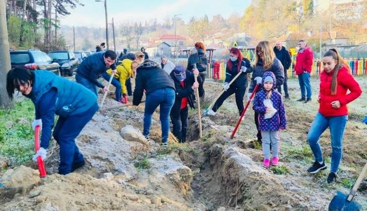 """Засадиха над 450 дървета в първия ден от кампанията """"Залеси Варна"""""""