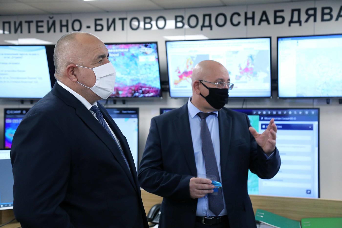 Премиерът Бойко Борисов откри обновения Национален координационен център в МОСВ