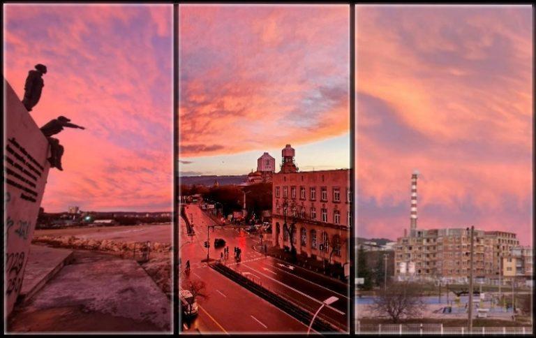 Галерия: Пурпурното небе над Варна 25.01.2021 г.