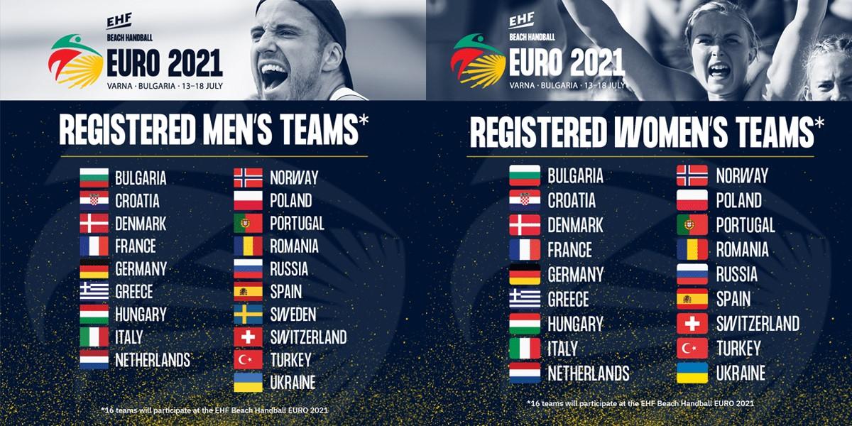 37 отбора са заявили участие в Евро`2021 по плажен хандбал във Варна