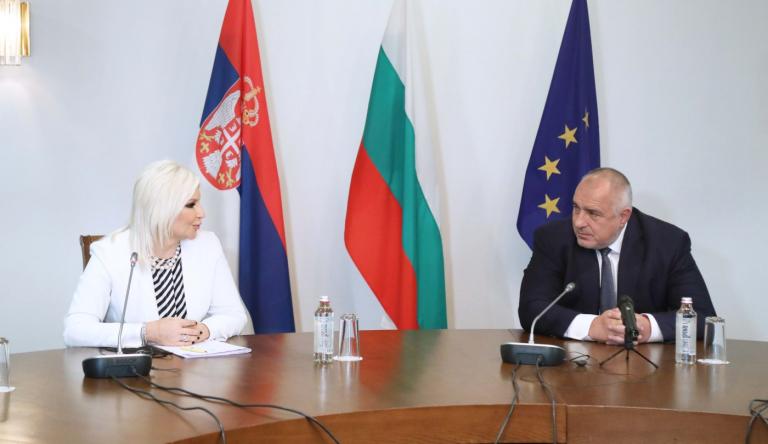 Министър-председателят Бойко Борисов и вицепремиерът на Сърбия Зорана Михайлович обсъдиха напредъка на проекти от общ интерес