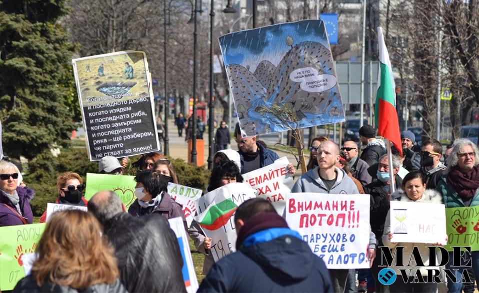 """Снимки: Протест срещу сечта на гората в местността """"Коджа Тепе"""""""