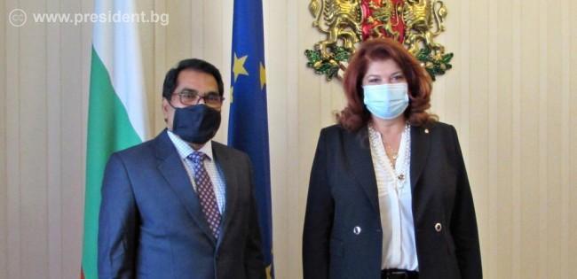 Вицепрезидентът се срещна с новия представител в България на Върховния комисариат на ООН за бежанците