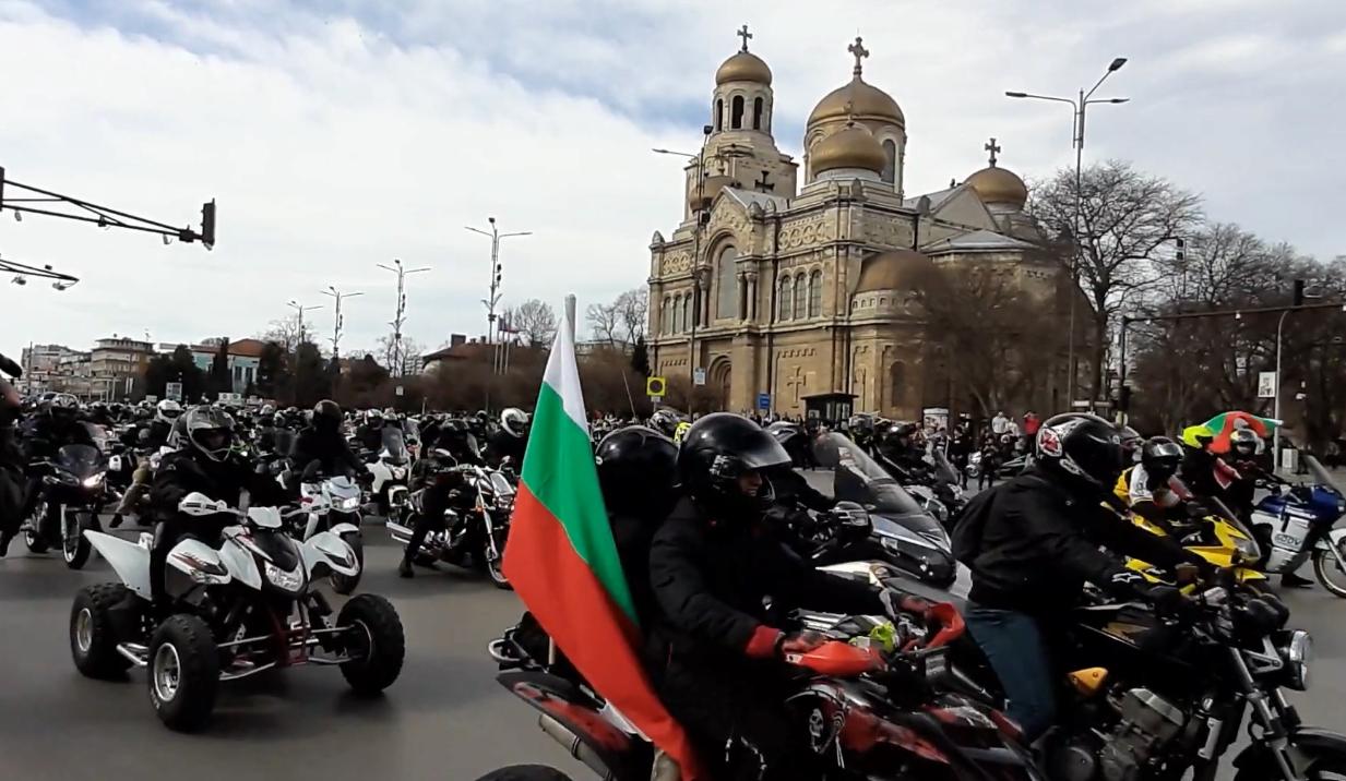 Мотошествие във Варна по случай националния празник на България 3-ти март