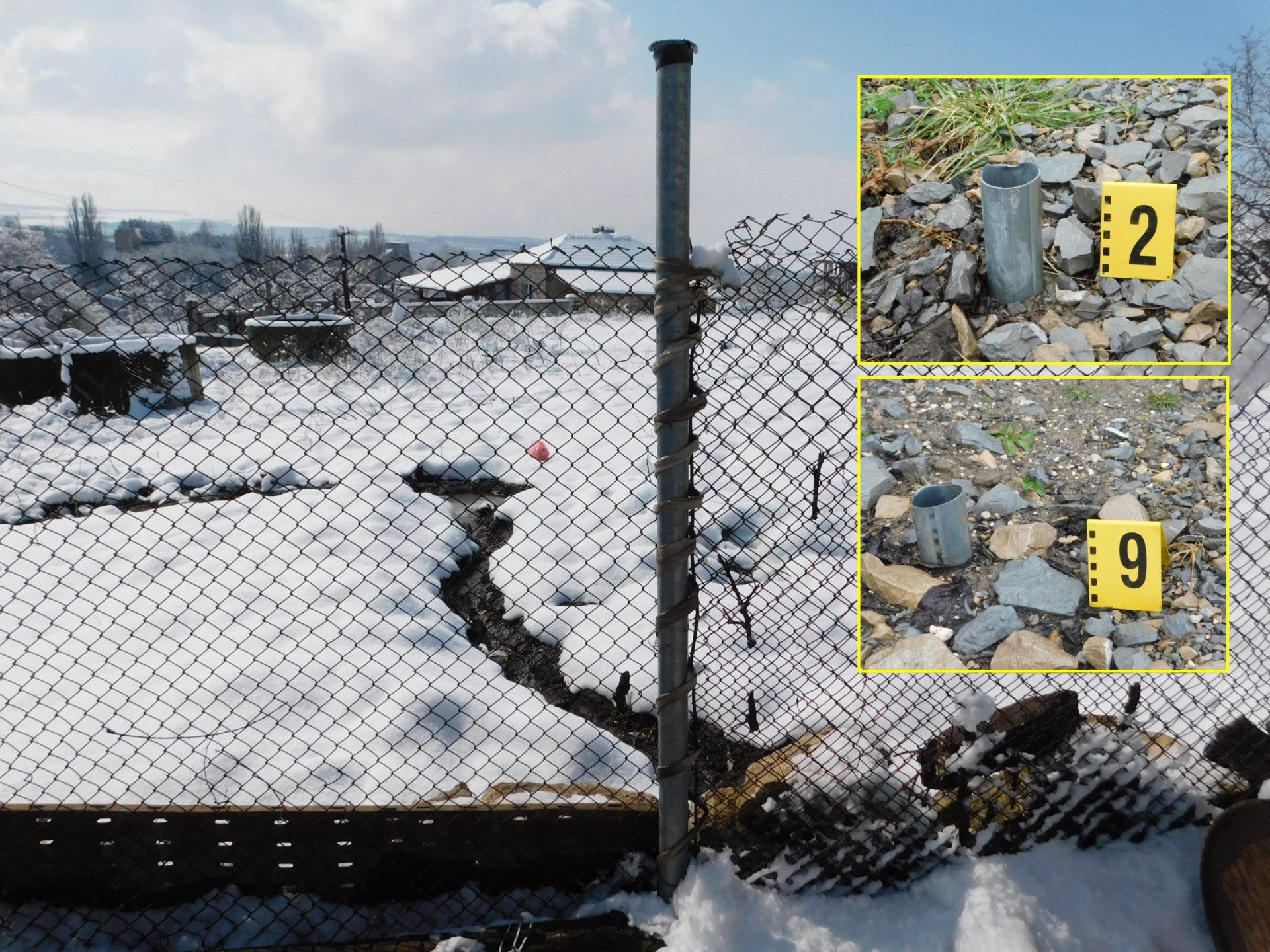 Задържаха баща и син, отрязали тръбите на пътни знаци, за да си направят с тях ограда