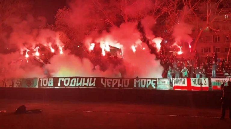 """Видео: Феновете на """"Черно море"""" отпразнуваха 108-годишнина на клуба"""