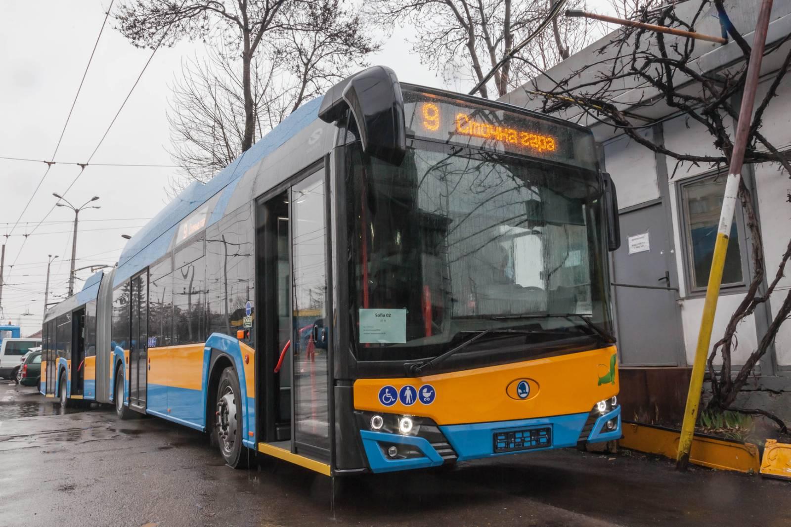 В София започват да се движат нови 30 тролейбуса