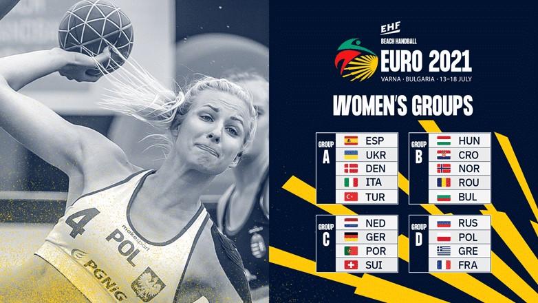 Известни са групите за Евро`2021 по плажен хандбал при мъжете и жените
