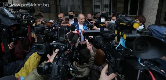 Румен Радев: Вярвам, че тези избори ще са първата стъпка за връщането ни към нормалността и осъзнаването на огромния потенциал на нашия народ