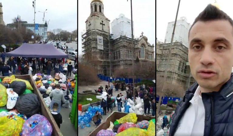 """""""Аз вярвам и помагам"""" събра 15 тона капачки до обяд. Акцията продължава до 15 ч."""