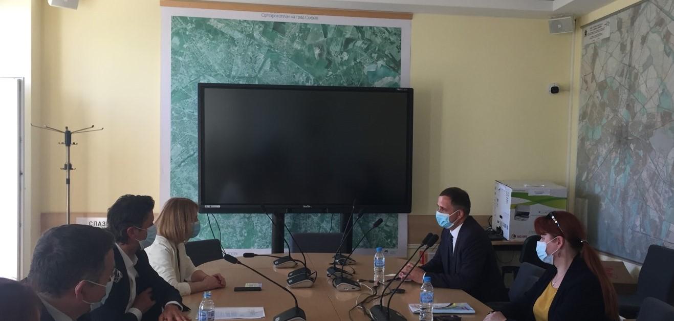 Кметът на София проведе среща с кмета на община Болград, Украйна